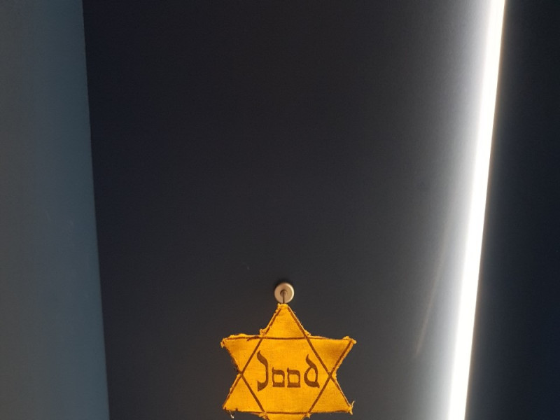 Out of the shadows - the story of a Star of David cloth patch