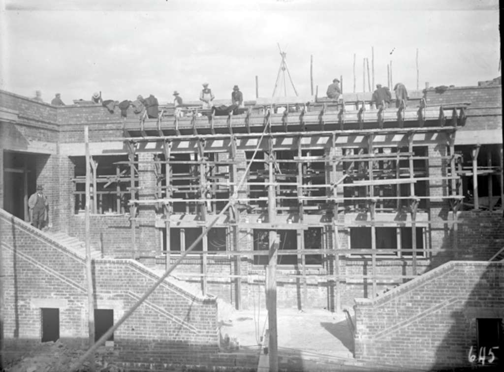 Parliament House Rear Stairway Under Construction, 1 January 1926. National  Archives Of Australia: A3560, 645.