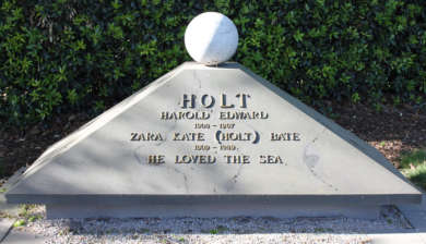 Harold Holt Memorial, Melbourne General Cemetery