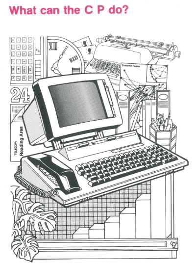 Graphic showing the functions of the Telecom Computerphone Welcome manual. Museum of Australian Democracy Collection.