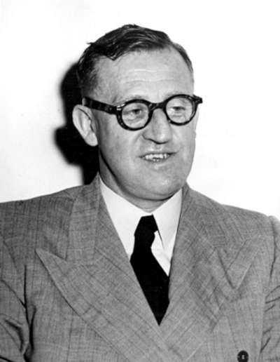The Leader of the Opposition, Arthur Calwell.