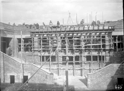 Parliament House rear stairway under construction