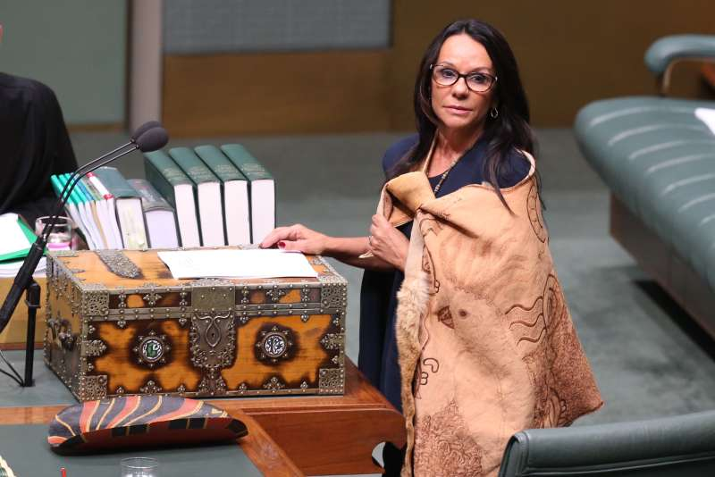 Linda Burney delivers her first speech at Parliament House in Canberra on Wednesday 31 August 2016.