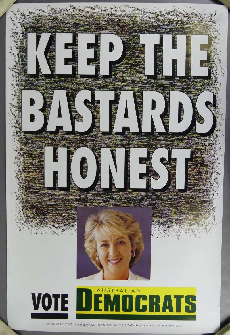 A 1996 Australian Democrats poster featuring Cheryl Kernot