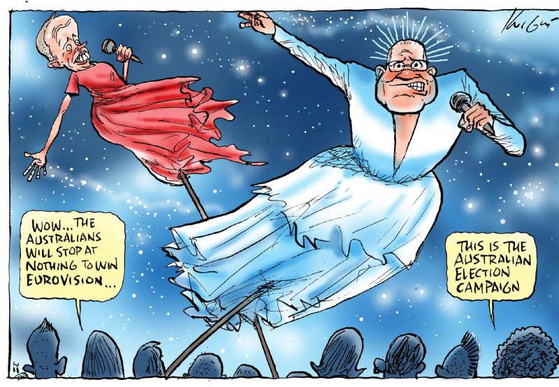 Mark Knight. 'Eurovision Campaign.' The Herald Sun, 16 May 2019.