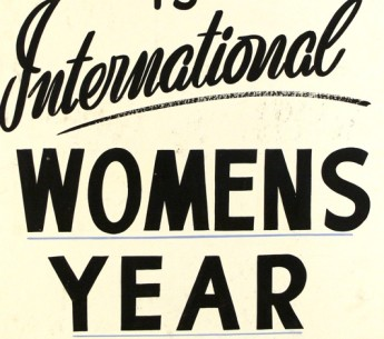 Banner from the '50 Famous Australian Women' exhibition, Parramatta. Museum of Australian Democracy Collection.