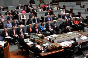 Opposition Members in the House of Representatives. Image courtesy of the Department of Parliamentary Services, AUSPIC.