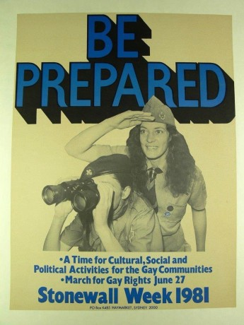 Poster for 1981 Stonewall Week. Museum of Australian Democracy collection.