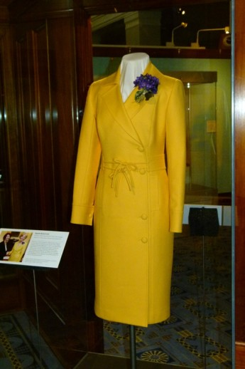 The yellow dress suit worn by Governor-General Quentin Bryce at the swearing in of Julia Gillard as Prime Minister in June 2010.