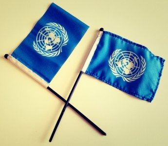 We'll be handing out free United Nations flags this International Day of Democracy.