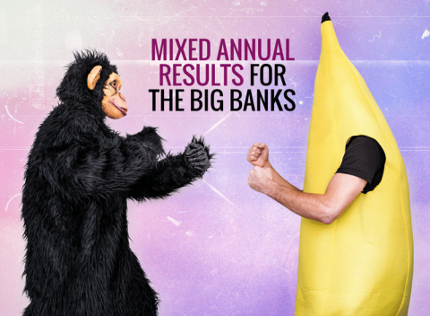 Mixed annual results for the big banks