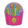 Picture of Emoji Fries Rhinestone Decals