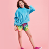 Picture of Rainbow Tie Dye Plush Shorts