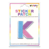 Picture of K Initial Color Block Sticker Patch