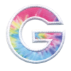 Picture of G Initial Tie Dye Sticker Patch
