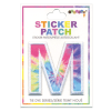Picture of M Initial Tie Dye Sticker Patch