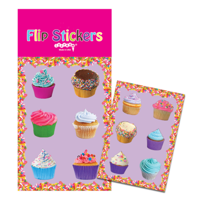 Picture of Lots of Cupcakes Flip Stickers