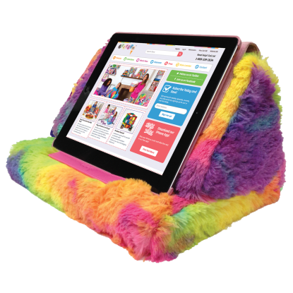 Picture of Tie Dye Furry Tablet Pillow