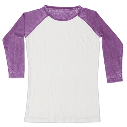 Picture of Burnout White/Purple Baseball Shirt