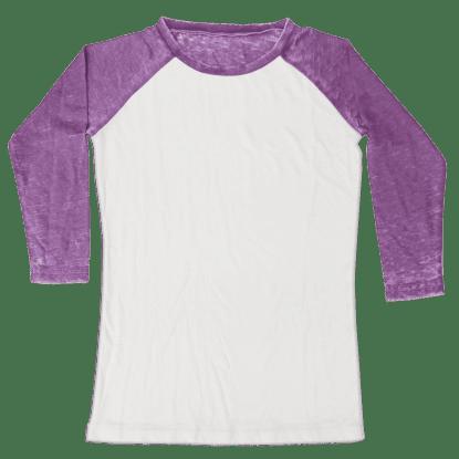 Picture of Burnout White/Purple Baseball Shirt