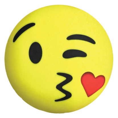 Picture of Kissy Heart Emoji Microbead Pillow