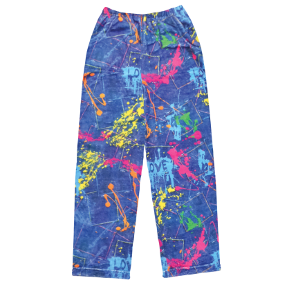 Picture of Paint Splatter Denim Plush Pants