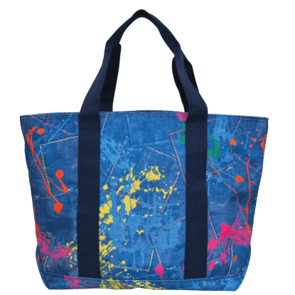 Picture of Paint Splatter Denim Tote Bag