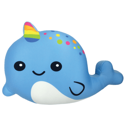 Picture of Blue Narwhal Scented Microbead Pillow