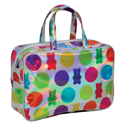 Picture of Gummy Bears Holographic Large Cosmetic Bag