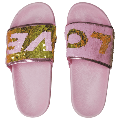 Picture of Love Reversible Sequin Slides