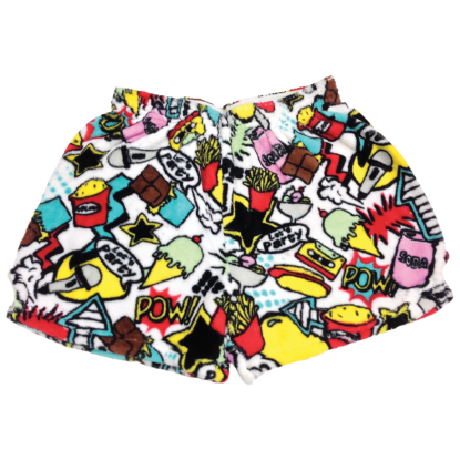Picture of Pop Art Plush Shorts Small (6-8)