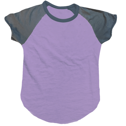 Picture of Burnout Lavender/Purple Baseball T-Shirt