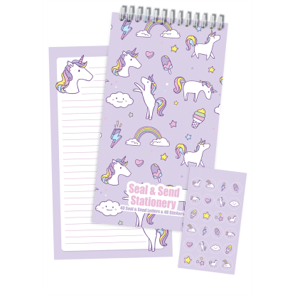 Picture of Unicorn Wishes Seal & Send Stationery