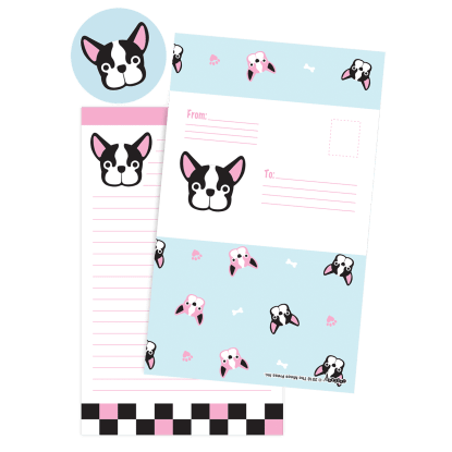 Picture of French Bulldog Foldover Cards