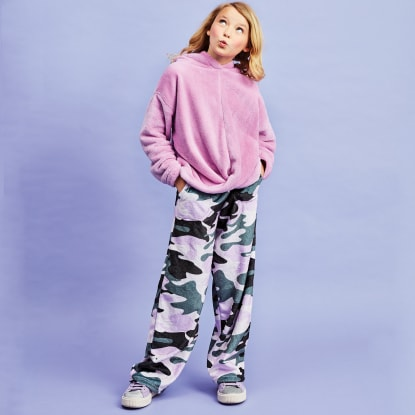 Picture of Purple Camo Plush Pants