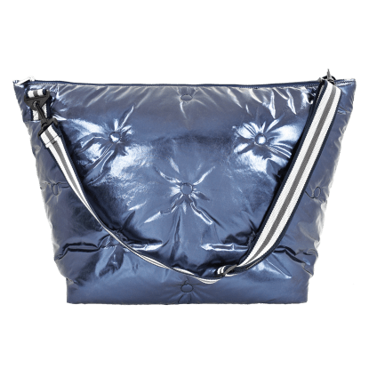 Picture of Blue Tufted  Metallic Weekender Bag