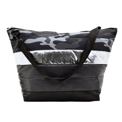 Picture of Black Camo Puffer Weekender Bag