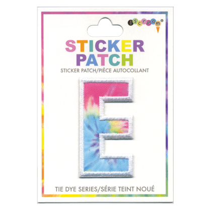 Picture of E Initial Tie Dye Sticker Patch