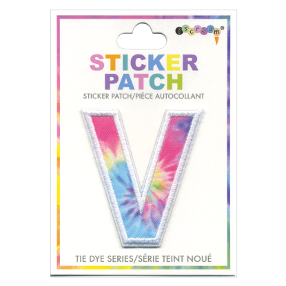 Picture of V Initial Tie Dye Sticker Patch