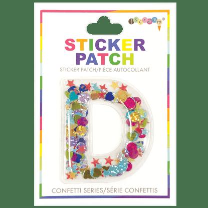 Picture of D Initial Confetti Sticker Patch