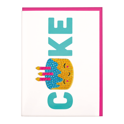 Picture of Birthday Cake Rhinestone Decal Greeting Card