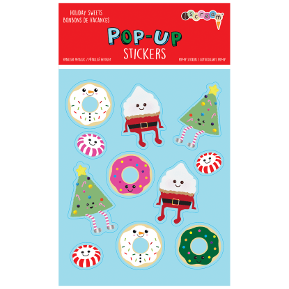 Picture of Holiday Sweets Pop-Up Stickers