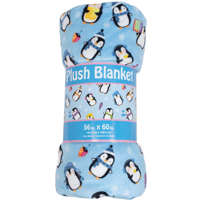 Picture of Hanukkah Penguins Plush Blanket