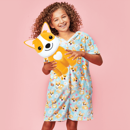 Picture of Corgis and Daisies Plush Romper