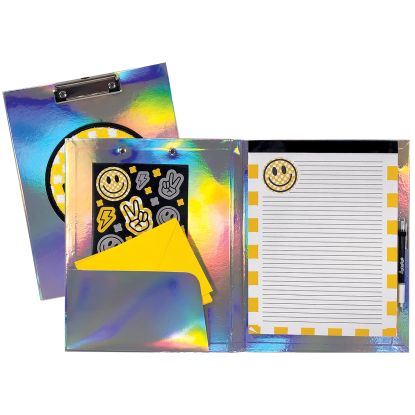 Picture of Checkered Smiley Face Clipboard Set