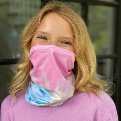 Picture of Pastel Tie Dye Gaiter Face Mask