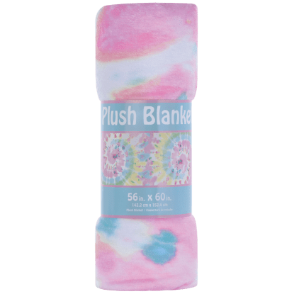 Picture of Swirl Tie Dye Plush Blanket