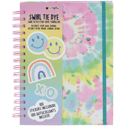Picture of Swirl Tie Dye Hardcover Journal