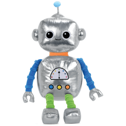 Picture of Robbie Robot Metallic and Fleece Bestie Pillow