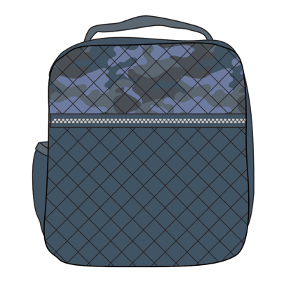 Picture of Blue Camo Quilted Lunch Tote